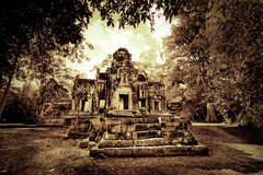柬埔寨破庙 图库摄影