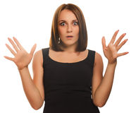 Женщина утомляла головную боль стресса девушки боли, держа его Стоковые Фотографии RF