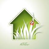 Приглашение зеленого дома весны Стоковое фото RF