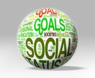 Изолированный глобус социального статуса Стоковая Фотография RF