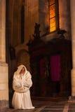 祷告的修士 免版税库存照片