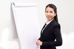 Представлять бизнес-леди Стоковые Изображения