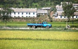 Τοπίο βόρειων κορεατικό χωριών Στοκ Φωτογραφία