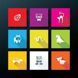Διανυσματικό επίπεδο σύνολο εικονιδίων παιχνιδιών μωρών Στοκ Εικόνα