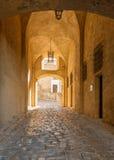 对城堡的入口在卡尔维,可西嘉岛 免版税图库摄影