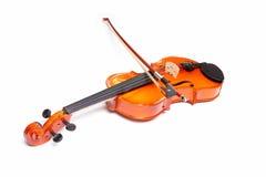 小提琴和弓 免版税库存图片