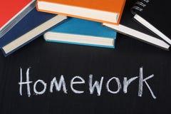 家庭作业 库存照片