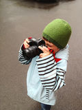 年轻摄影师 免版税库存图片