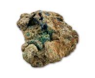 绿沸铜和石青矿物 图库摄影