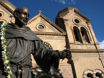 圣弗朗西斯雕象 库存照片