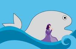 Иона и рыбы Стоковое Изображение