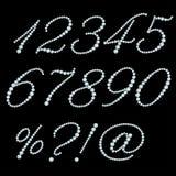 Σύνολο αριθμών διαμαντιών Στοκ φωτογραφία με δικαίωμα ελεύθερης χρήσης