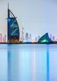 Горизонт Дубай, ОАЭ Стоковое Изображение RF