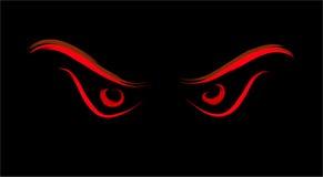 邪恶的狂放的眼睛 免版税库存图片