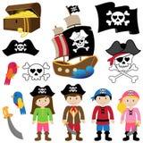 海盗的传染媒介例证 库存图片