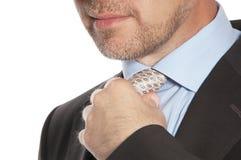 Человек в костюме и связи Стоковые Изображения RF