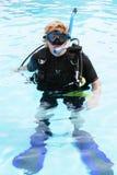 潜水员水肺 免版税库存照片