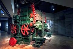 在造纸机的齿轮 免版税库存图片