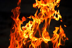 火发火焰 图库摄影