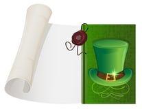 妖精帽子和纸纸卷 免版税库存图片