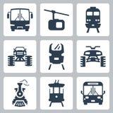 Διανυσματικά εικονίδια μεταφορών Στοκ Εικόνα