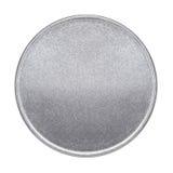 空白的硬币或奖牌 免版税库存照片