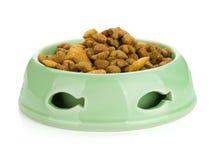在碗的猫食 图库摄影