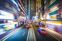 Нерезкость движения Гонконга Стоковые Фотографии RF