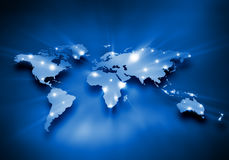 全球性互作用 免版税库存图片