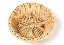 Пустая плетеная корзина Стоковая Фотография