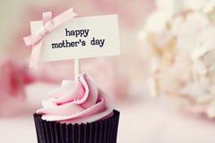 母亲节杯形蛋糕 图库摄影