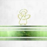 Первые карточка, ангел и уши общности пшеницы Стоковое фото RF