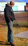 Ждать деревенского парня Стоковые Фотографии RF