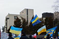 普京使您的恐怖分子脱离乌克兰 免版税库存照片