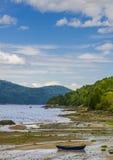 Μπλε κανό Στοκ εικόνα με δικαίωμα ελεύθερης χρήσης