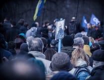 活动家自卫在乌克兰 库存图片