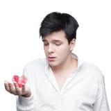 Молодой нежный человек брюнет Стоковые Фото