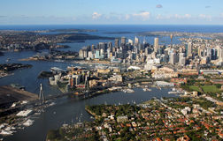 悉尼,澳大利亚鸟瞰图  库存图片