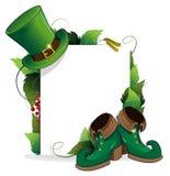 妖精鞋子和帽子 免版税图库摄影