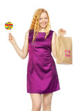 Девушка покупок Стоковые Изображения RF