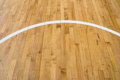 Линия на деревянном поле Стоковое фото RF