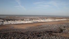 在南英国海岸的海衰退。 股票录像