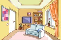 Светлая живущая комната Стоковое Изображение