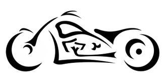 Логотип мотоцикла тяпки Стоковая Фотография