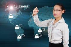 电子教学概念 免版税库存照片