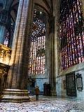 米兰参观的中央寺院  免版税库存照片