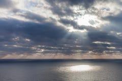在海的日出 图库摄影