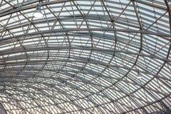 钢屋顶结构 库存照片