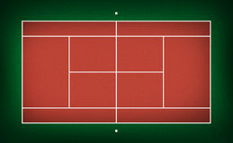 Иллюстрация теннисного корта Стоковая Фотография RF