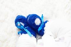 Μπλε παπούτσι μωρών Στοκ Εικόνες